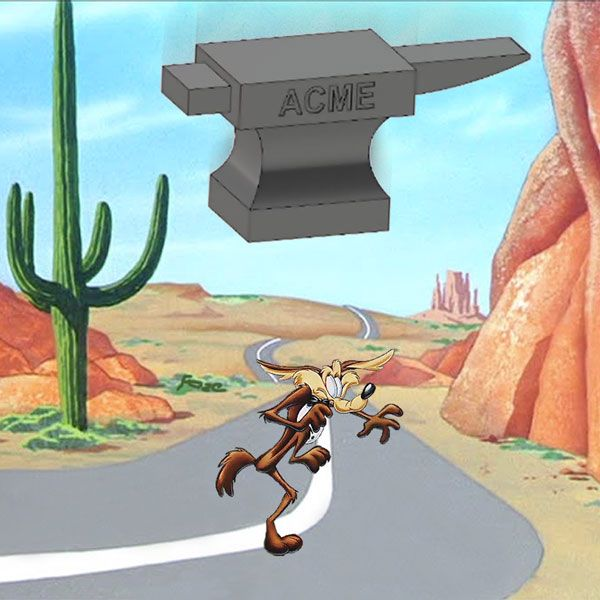 Image result for coyote roadrunner acme anvil