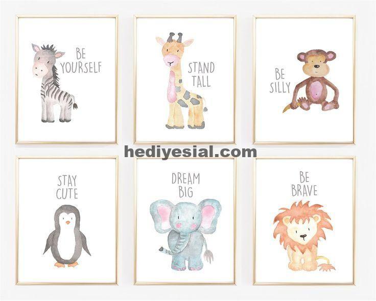 Aquarell Baby Tier Kinderzimmer Drucke Jane Kinderkunst
