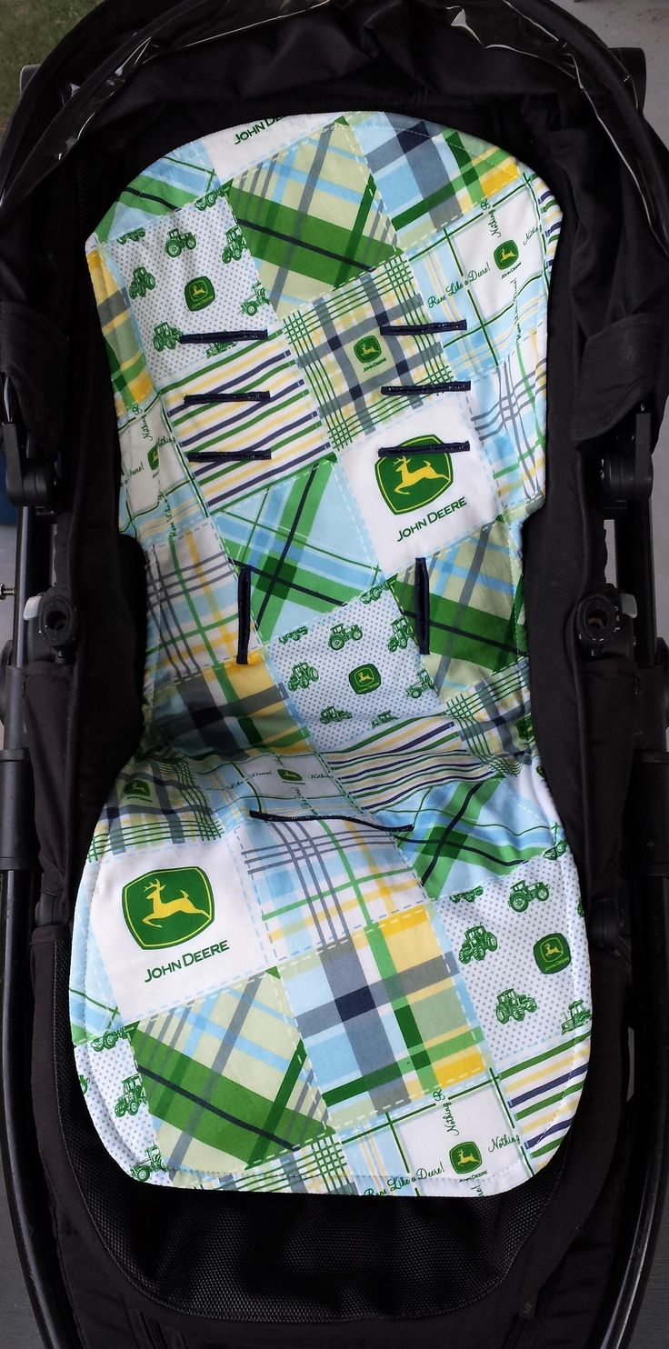 Ready To Post John Deere Diagonal Universal Pram Liner - Great Baby Shower Gift by MattynMe on Etsy