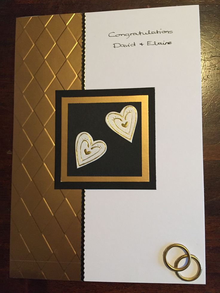 Golden wedding card