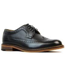 Deon Longwing BEN SHERMAN Mod Waxy Black Brogues: http://www.atomretro.com/18555 #bensherman #deon #longwing #brogues #brogueshoes #atomretro #mensfootwear