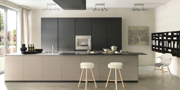 Cucina moderna / in Corian® / con isola BLADE by Modulnova DuPont CORIAN