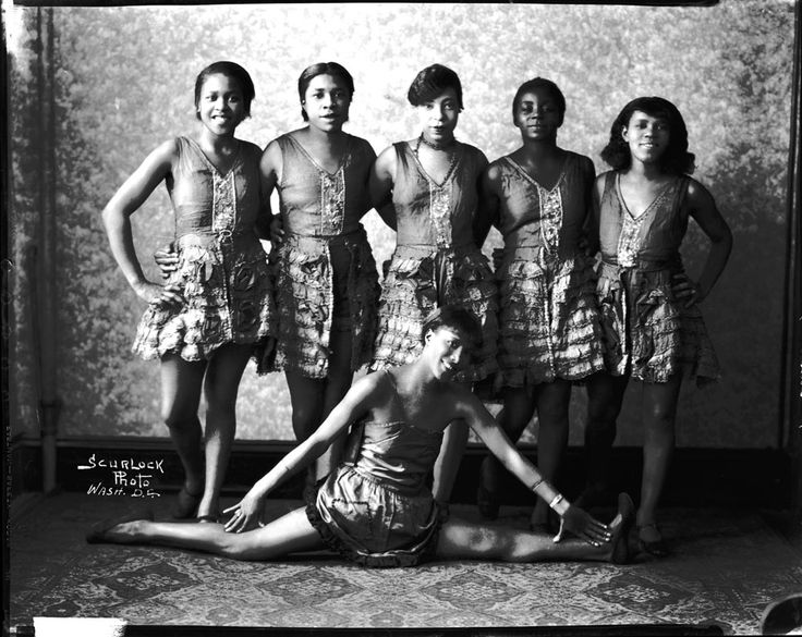 Effie moore with a group of vaudeville dancers circa