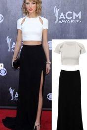 Ladylike Black White 2pcs Evening Dress LC6491