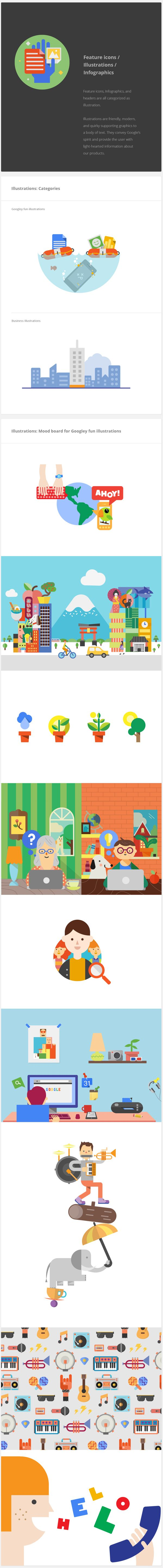 Google Visual Assets Guidelines - Part 2 by Roger Oddone, via Behance