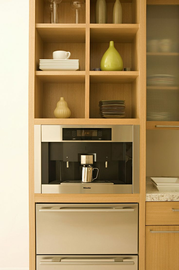 miele cofffe maker above sub zero drawers