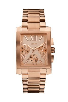 Rose Gold-Tone Sleek Feminine Watch | GUESS.com