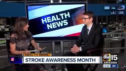 Dr. Andrew Ducruet, an endovascular neurosurgeon at Barrow, discussed stroke risk factors, warning signs, preventative measures, and treatments with ABC15 Arizona.