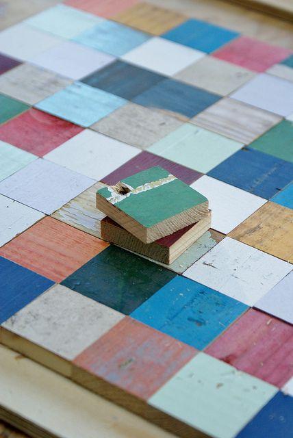 piet hein eek - scrapwood pieces by wood & wool stool, via Flickr
