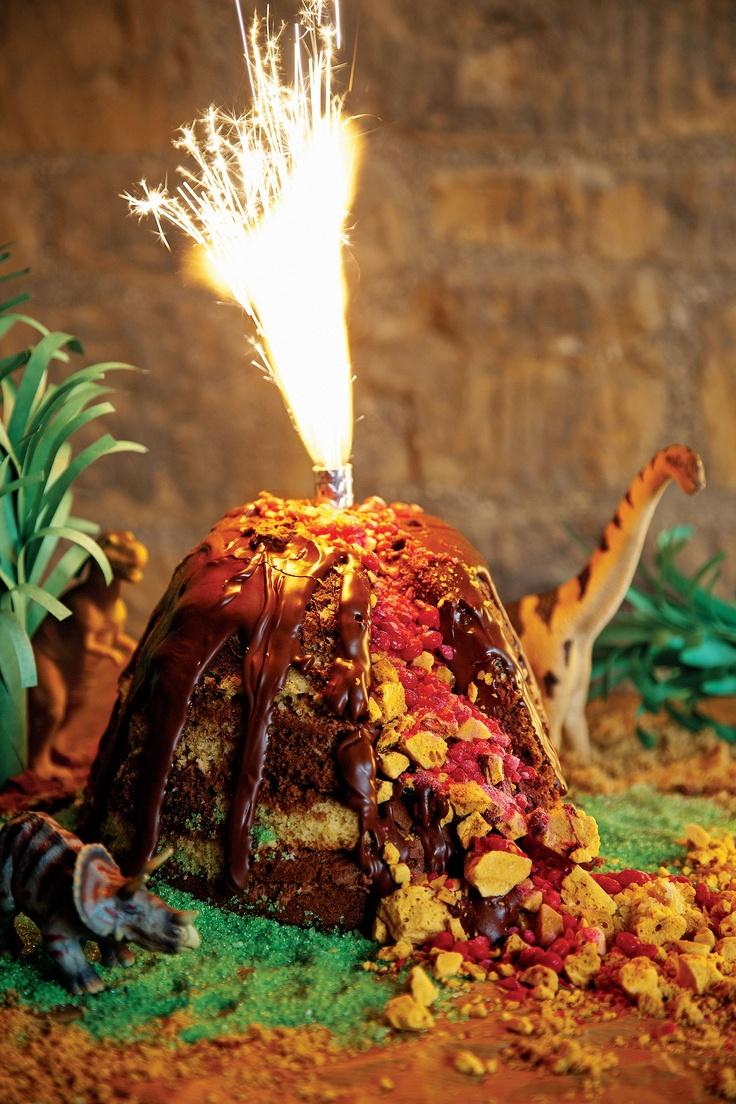 The amazing erupting volcano marble cake -  in issue 10.  #cookingforchildren