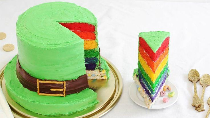 Blogger Heather Baird of  SprinkleBakes creates a birthday cake for Lucky the Leprechaun—it's magically delicious!