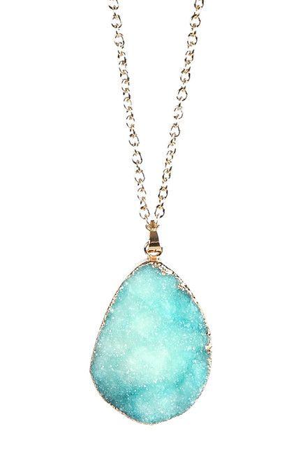 Blue Agate Necklace such a pretty color