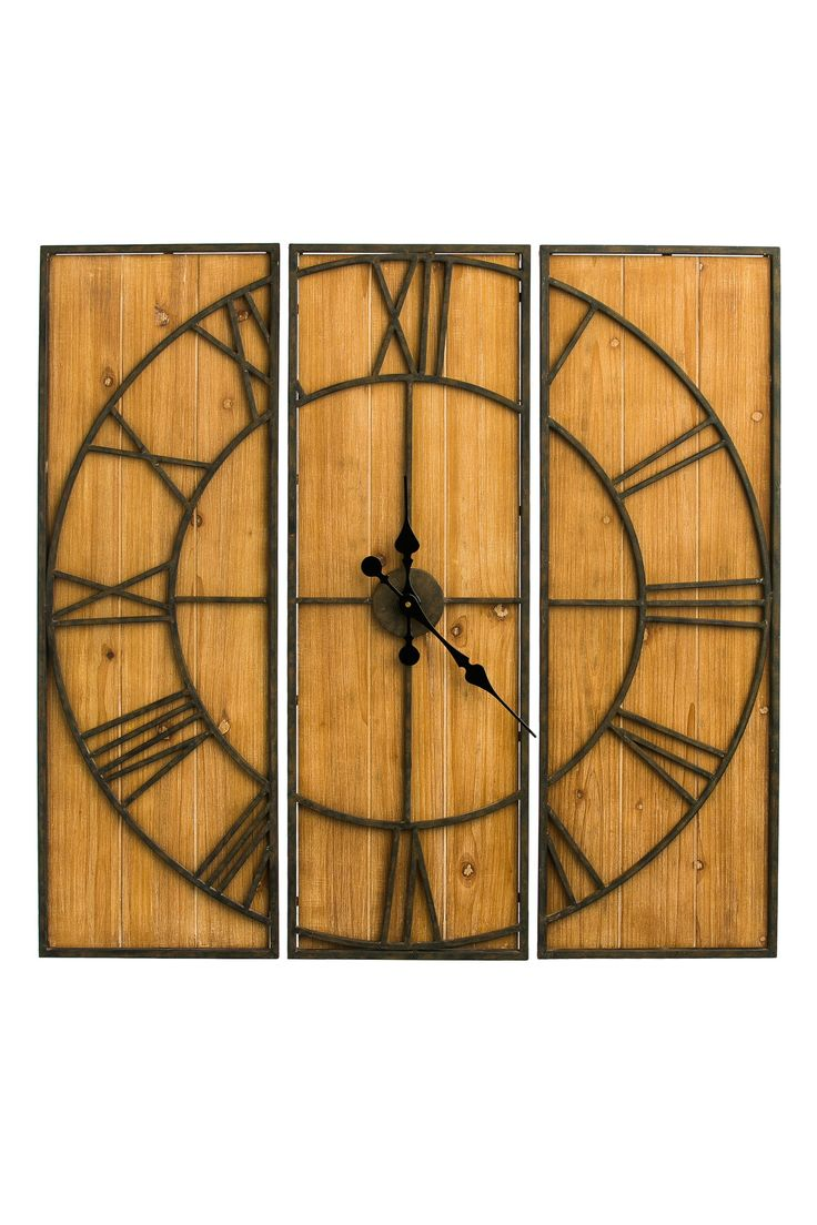 3 Piece Brown Wall Clock