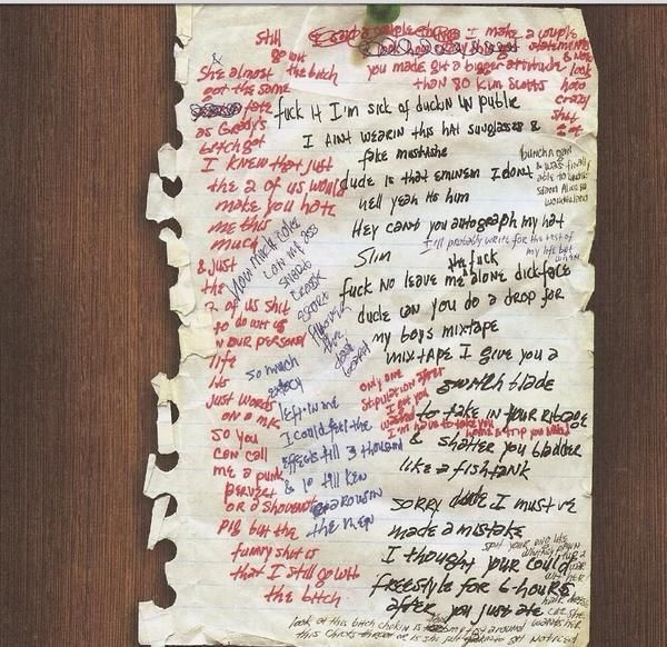 Eminem's writing...Marshall Mathers