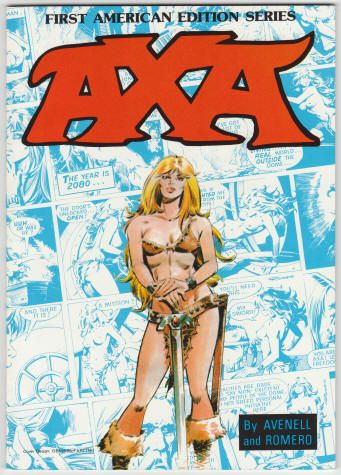 Axa Book 1 by Donne Avenell and Enrique Romero. Softback, First American Edition Series, size 7 x 10 inches, 64 pages, Out of Print. Set of Volumes 1 - 8 for $175