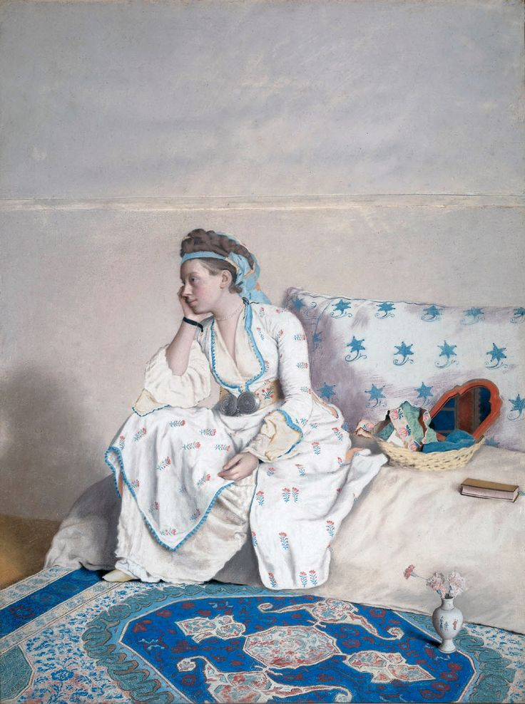 Jean-Etienne Liotard: Woman in a Turkish dress (1752-1754)