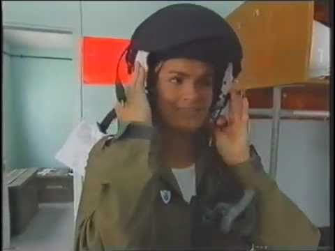 Female Presenter Katy Hill In RAF Oxygen Mask And Flight Suit Helmet - YouTube