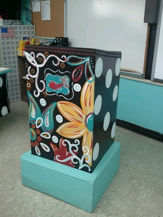 Classroom Paint Decor ~ Best trash cans images on pinterest upcycling