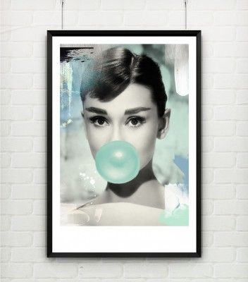 Poster/Canvas - I LOVE DESIGN - Audrey Hepburn