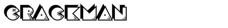 free download Crackman font - keywords: pacman