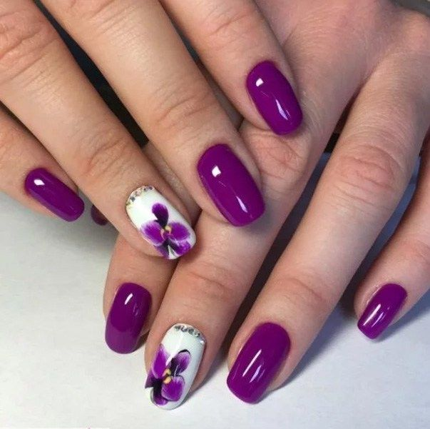 Outstanding Holiday Winter Nails Art Designs 2019 To 2020 Purple