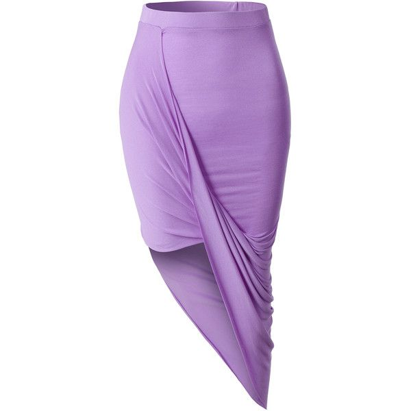 LE3NO Womens Asymmetrical Banded Waist Wrap Cut Out Hi Low Maxi Skirt ($13) ❤ liked on Polyvore featuring skirts, sexy long skirts, asymmetrical maxi skirt, long purple skirt, summer maxi skirts and long skirts