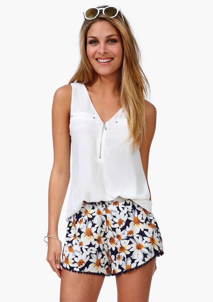 Mid Zip Tank | Shop for Mid Zip Tank Online/ Cute Beach Outfit