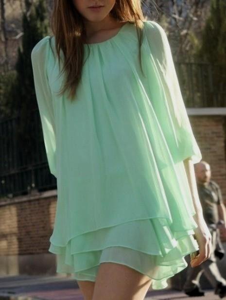 Mint color dress tumblr
