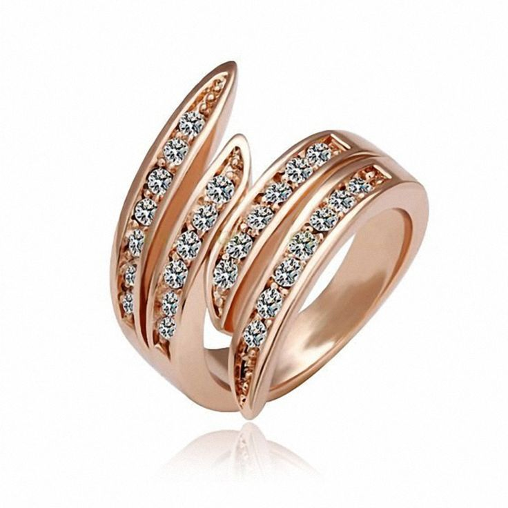 Dan's Element Genuine Austria Crystal   Rings for Women Enviromental Anti Allergies  #RA12107