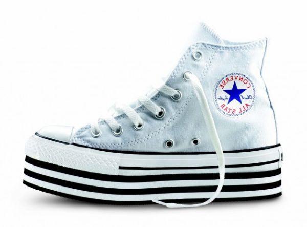 Collezione Converse alte platform FOTO  #converse #sneakers #scarpe #scarpedonna #platform #shoes #mood #trend #white