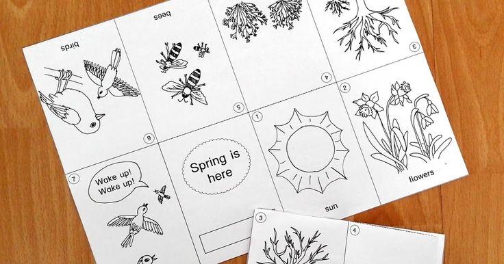 """Faltbuch """"Spring is here"""", Gedicht Englischunterricht Grundschule"""