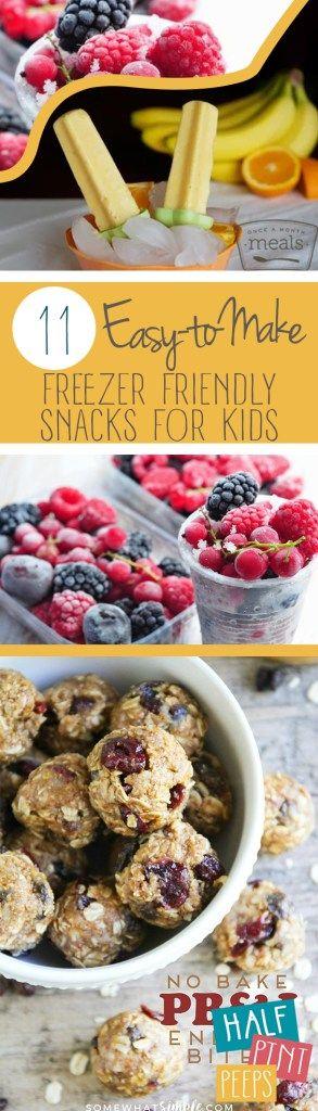 11 Easy-to-Make Freezer Friendly Snacks for Kids