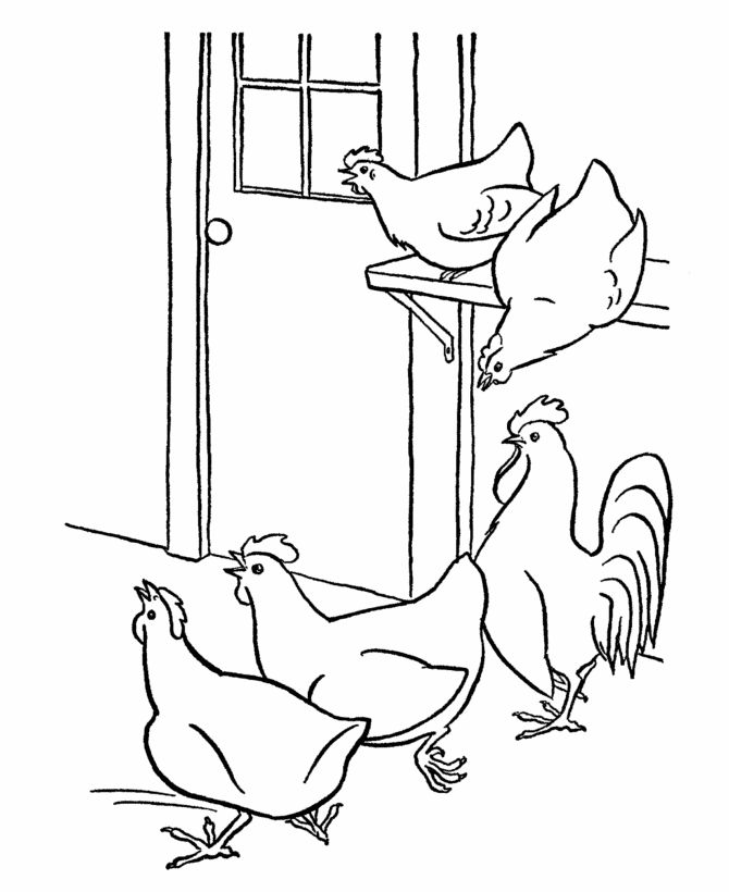 click the hen hatching chicken eggs coloring pages printable