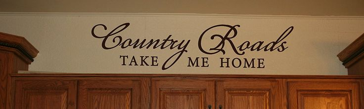 Wall Decor Plus More Country Roads Take Me Home Wall Decal Inspirational Quote 32x7.5 Chocolate Brown Chocolate Brown >>> You can find out more details at the link of the image. (This is an affiliate link and I receive a commission for the sales)