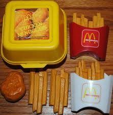 McDonald's play food... we totally had this set