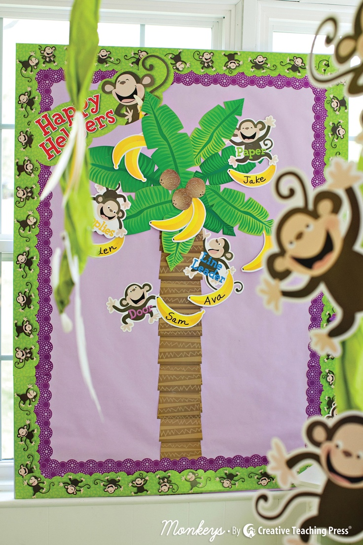Jungle Classroom Decoration Ideas ~ Best classroom themes jungle monkey decor images on