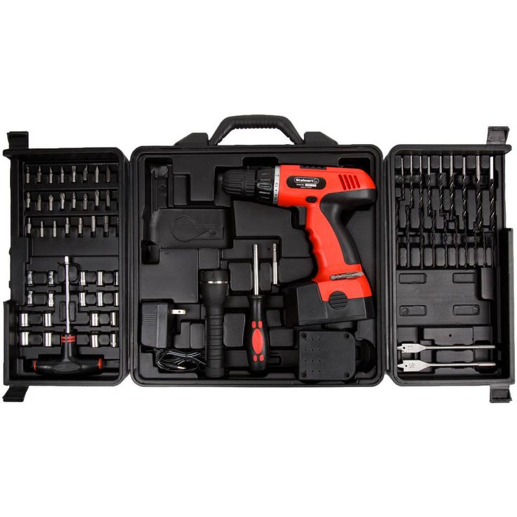 Cordless Drill Set 78 Piece Combo Keyless Chuck 18v Easy Use Precision Man Tool #Stalwart