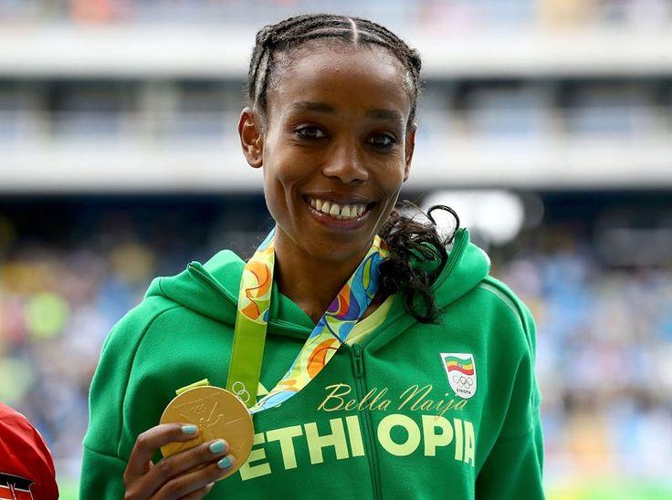 ETHIOPIAN GOLD! Amazing 10,000m World Record as Almaz Ayana wins GOLD at Rio 2016 8/12/16
