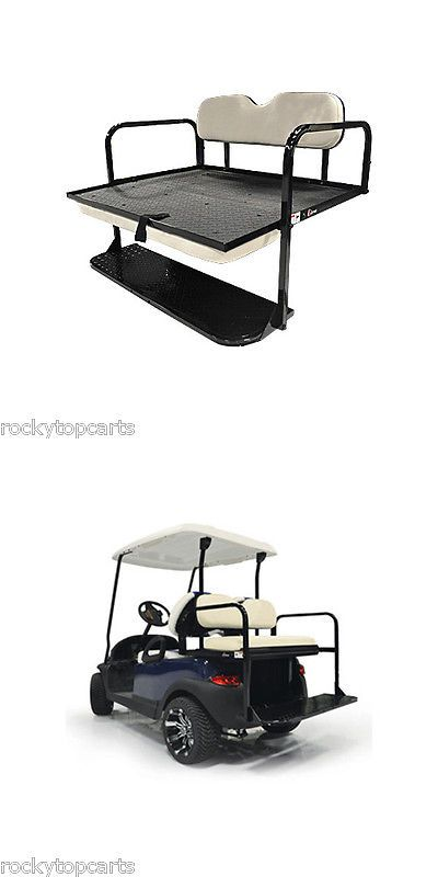 Push-Pull Golf Cart Add-ons 72671: Gtw Aluminum Yamaha Golf Cart Stone Beige Rear Flip Seat Fits Drive 2 -> BUY IT NOW ONLY: $329.99 on eBay!