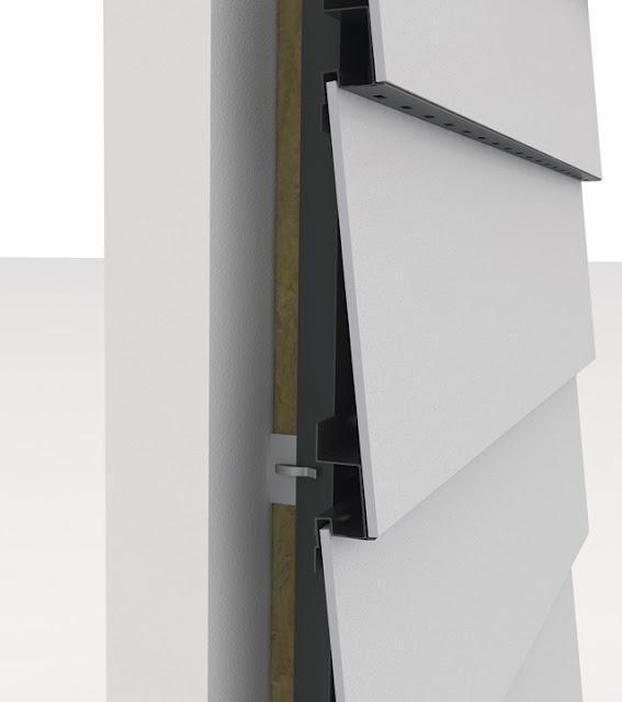 Detail keramische gevelbekleding. Onderhoudsvrij, duurzaam en bijzonder energie besparend