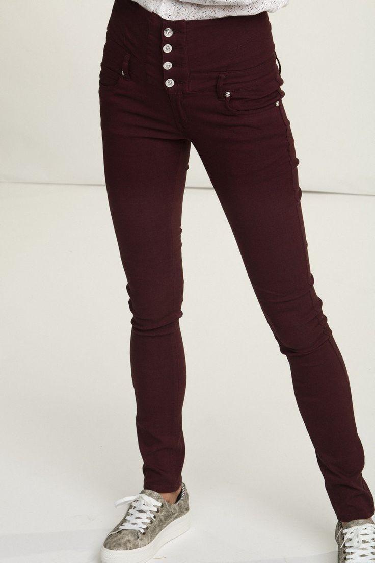 Bukse Angelina 180A - Plomme/burgunder  Str 27☺