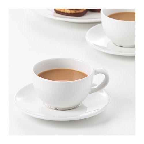 VARDAGEN  Coffee cup and saucer, off-white  $2.99  Article Number: 002.883.13  Simple yet timeless tableware with a traditional style and soft round shapes with attention to details.