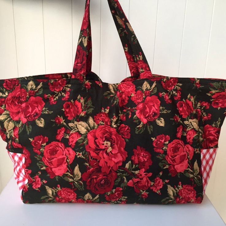 Large Handbag, Vintage Rose, Diaper Bag, Travel Bag, Overnight Bag, Australian Made, Boho Bag, gift for her, handmade, floral tote by VelvetBrowne on Etsy https://www.etsy.com/listing/246879810/large-handbag-vintage-rose-diaper-bag