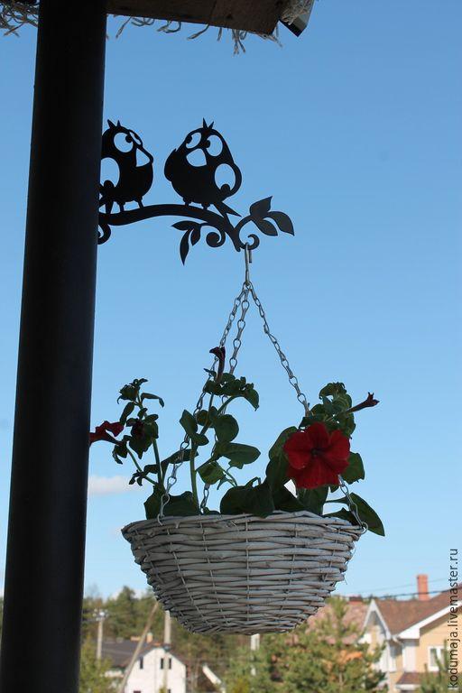 """Купить Кронштейн для цветов или фонаря """"Птички"""" - кронштейн для кашпо, кронштейн для цветов, кронштейн"""