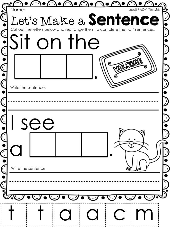 Teach your students all about the word family -at with this easy to use fun and interactive printables FREEBIE