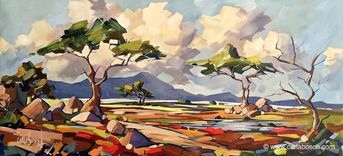 The African Bushveld, Acrylic on canvas by Carla Bosch