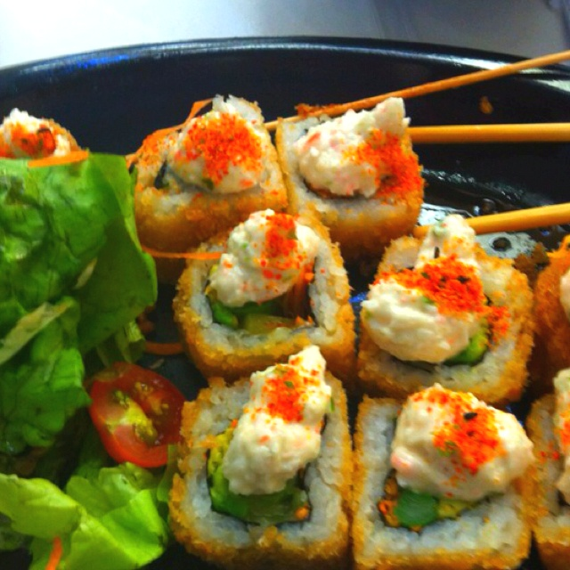 Fried sushi rolls!