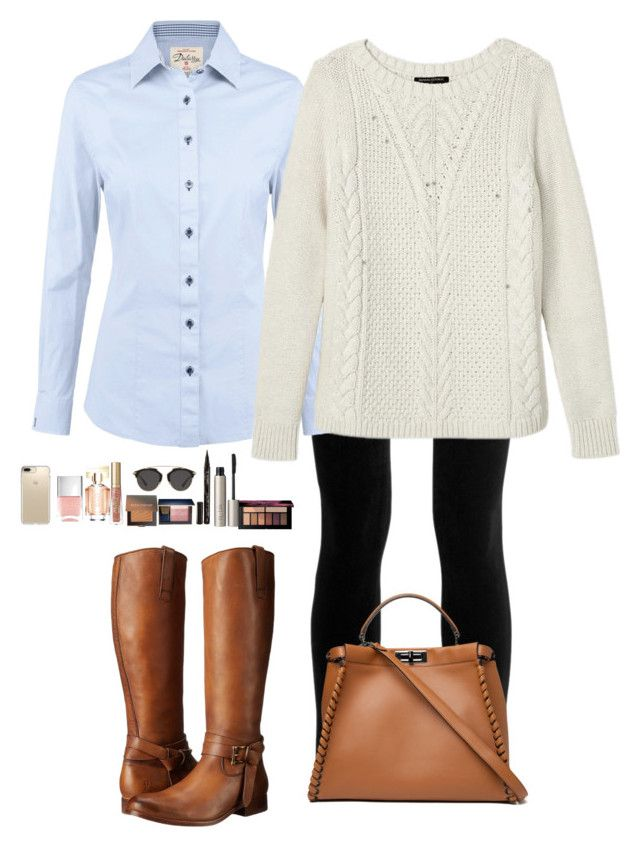 """""""Untitled #485"""" by mariapangal on Polyvore featuring J Brand, DUBARRY, Banana Republic, Frye, Fendi, Ilia, Smith & Cult, Estée Lauder, Laura Mercier and Too Faced Cosmetics"""