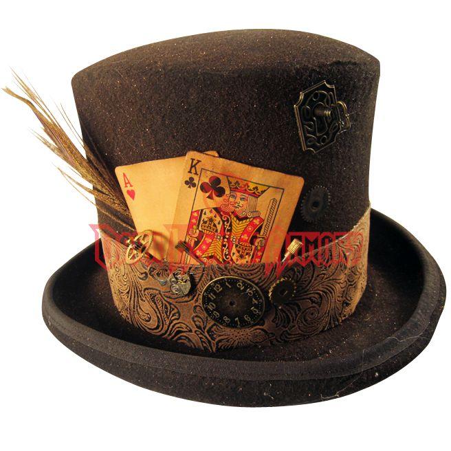 Mens Gambling Steampunk Top Hat in 2019  9fd60e42717f