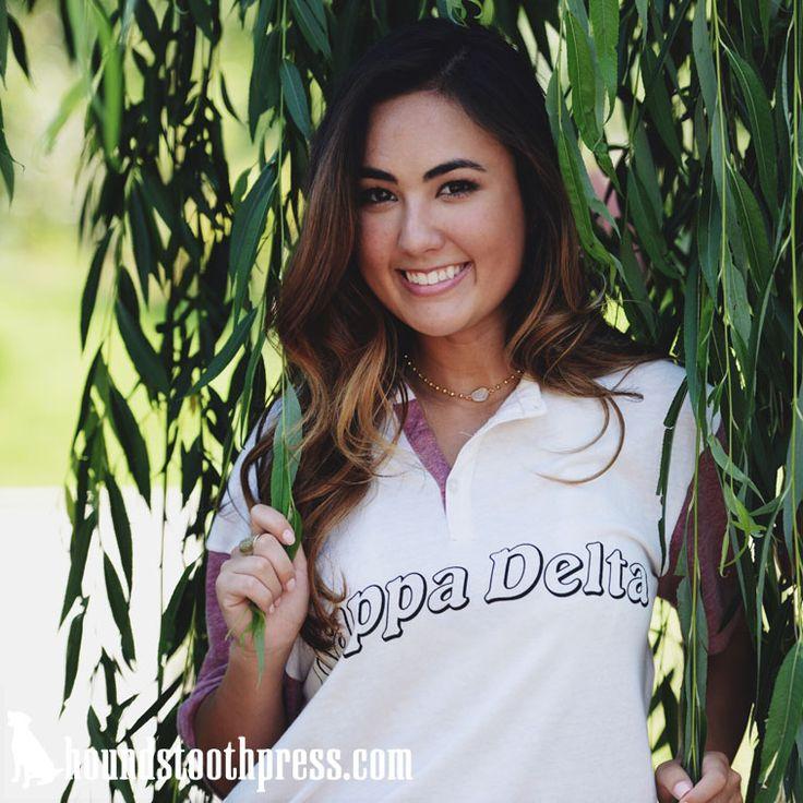 Kappa Delta Bubble Letter Shirt | #LoveTheLab houndstoothpress.com | Fraternity…